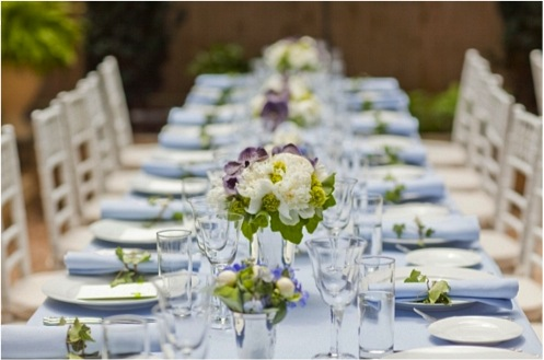 1 brooklyn heights bridal shower inspiration blue table flowers1 Bridal Shower With Wholesale Flowers