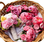 garden rose bouquet DIY Country Wedding with Wholesale Flowers
