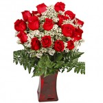 valentine gift 24 red roses BLO38383 150x150 Be My Valentine Flower
