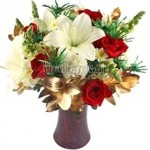 red rose white lily flowers delivery 150x150 Happy Mothers Day