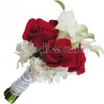 Red Rose with Calla Lily Bouquets