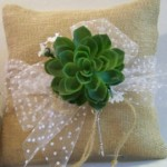 Green Wedding Succulent Flower Blue Rose