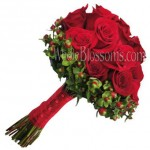 Red Wedding Roses Bouquet