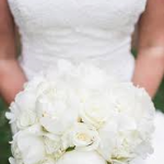 monochromatic White Bouquet