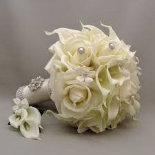 Make Bridal Bouquet from fake or silk flower
