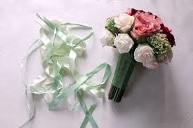 here is the prepared Bridal Bouquet