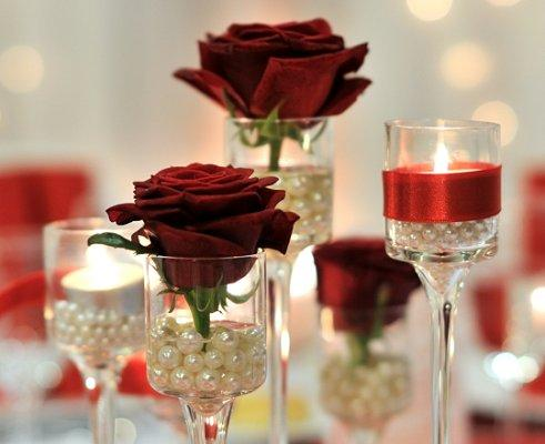 Red Rose Wedding Centerpieces Choice Image - Wedding Decoration Ideas