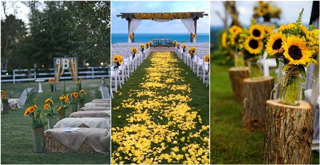 Sunflower floral decoration the modern wedding decoration theme sunflowers in wholesale junglespirit Image collections