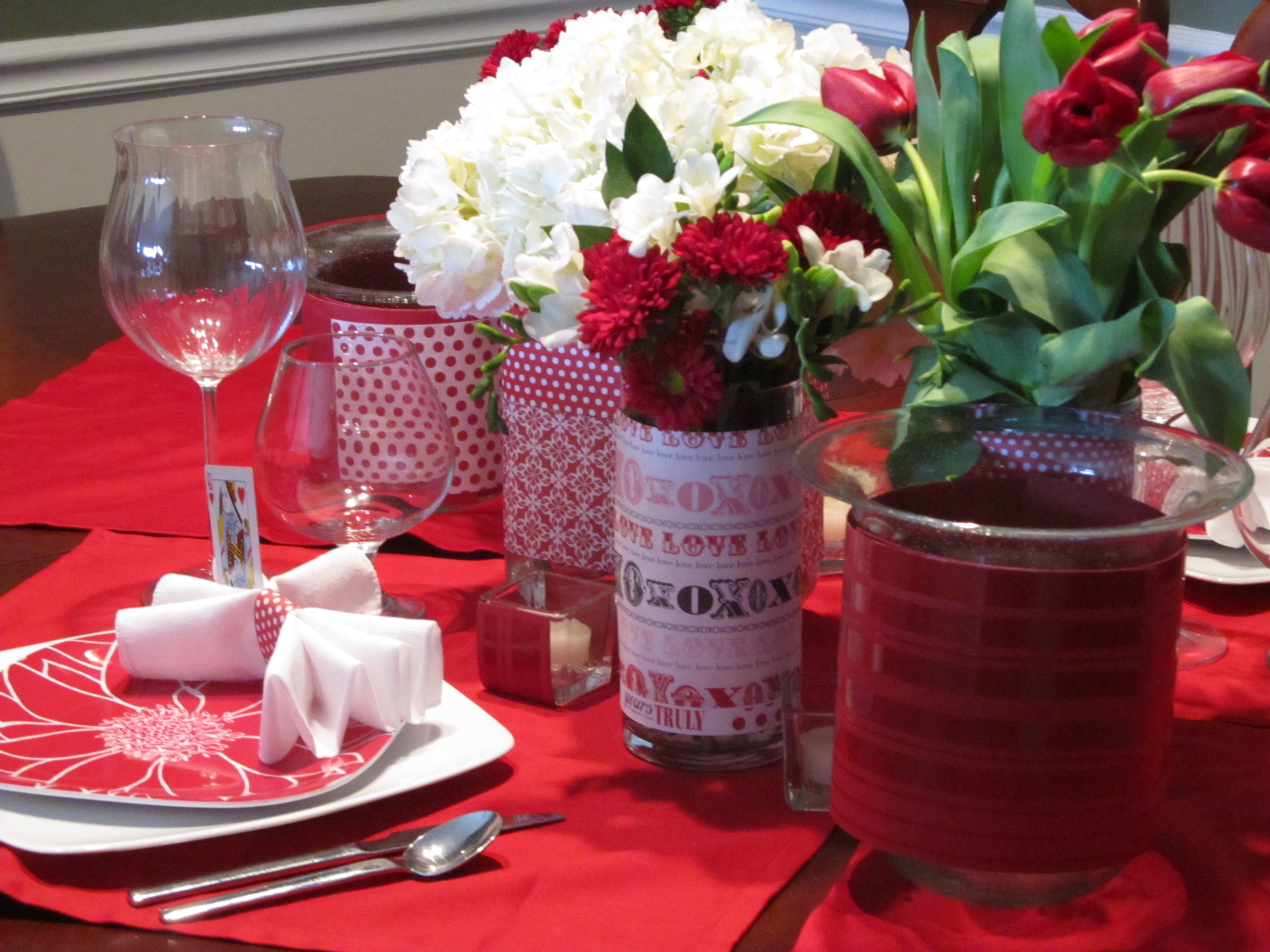 Valentine\'s Day Centerpiece to decorate your special evening!
