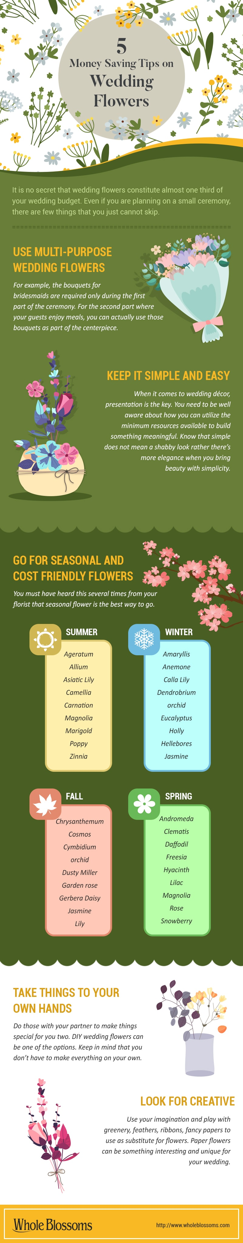 5 Money Saving Tips on Wedding Flowers