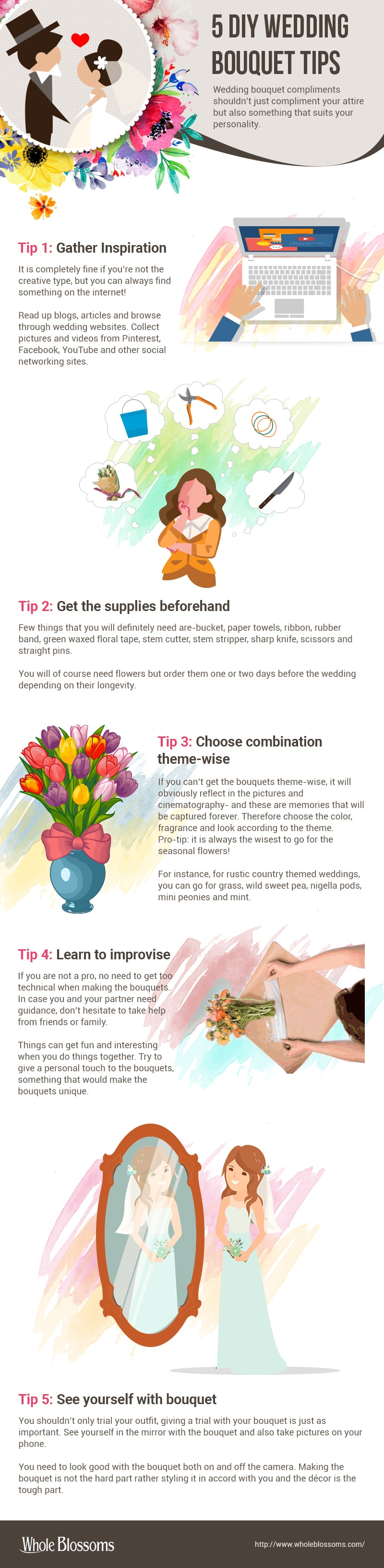 DIY Wedding Bouquet Tips