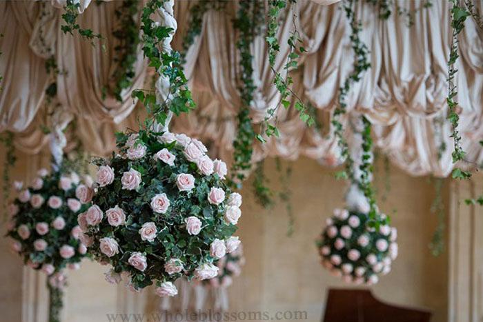 Hanging floral balls