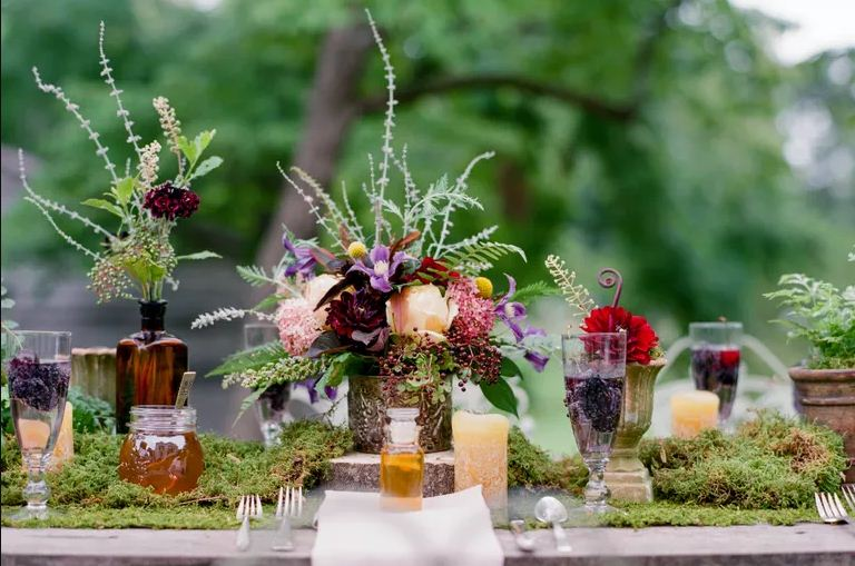 Moss Table Decoration