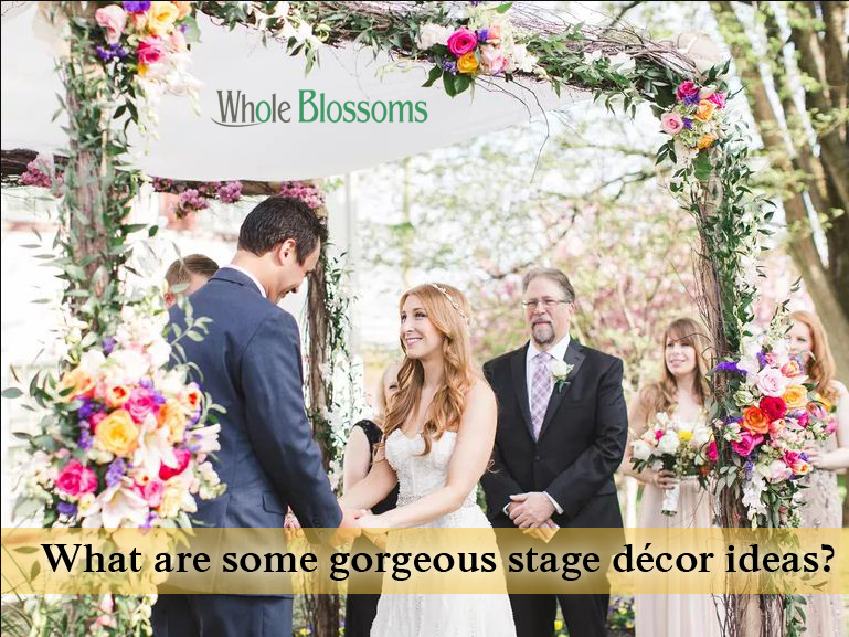 What are some gorgeous stage décor ideas?