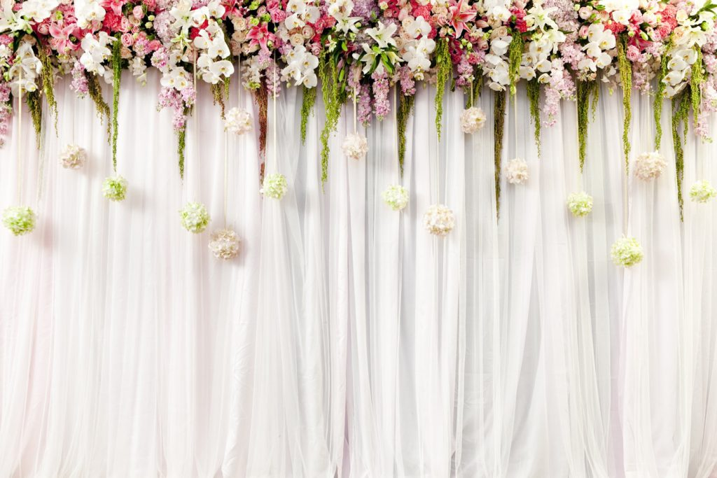 Colorful floral backdrop