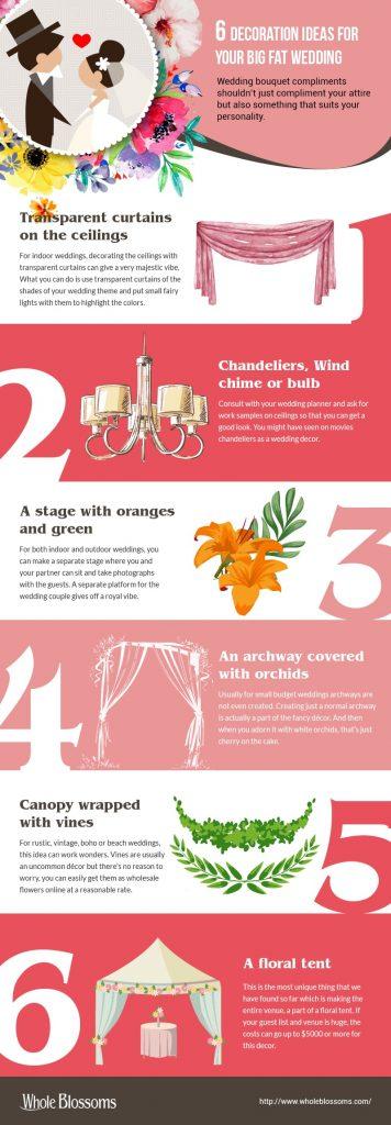 6 decoration ideas for your big fat wedding wholeblossoms junglespirit Gallery