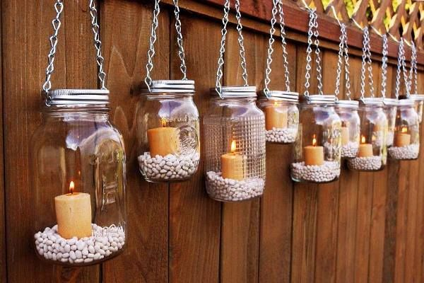 Hang some creative stuff with jars