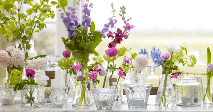 Explore the countryside and go inexpensive with your wedding decor
