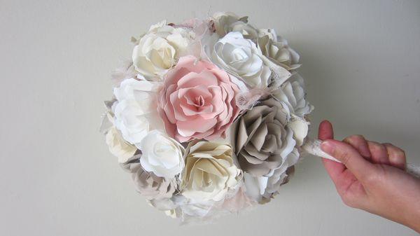 Inexpensive DIY paper wedding blooms