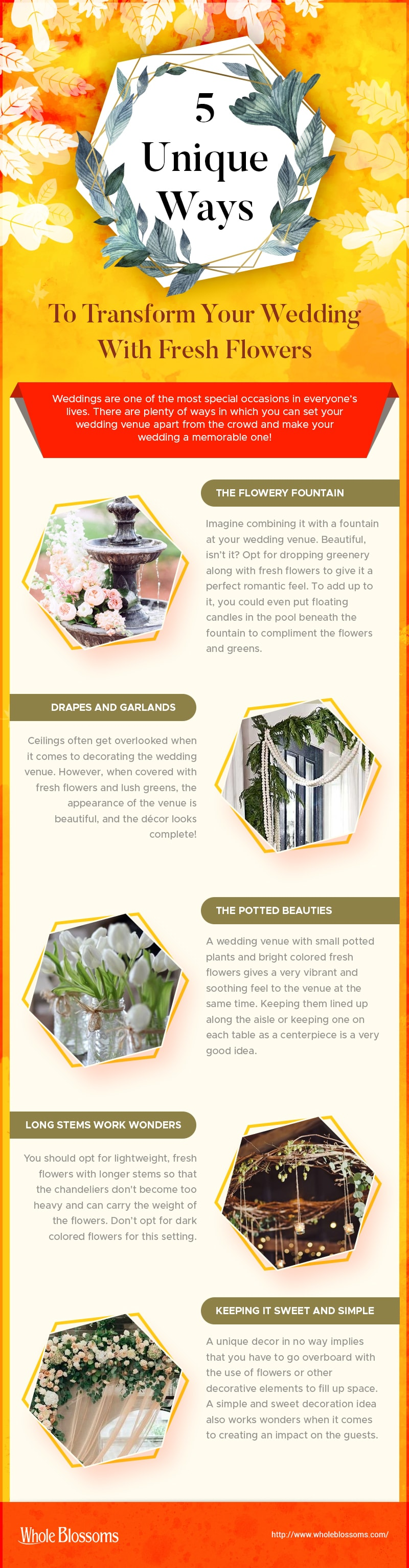 5 Unique Ways to Transform Your Wedding with Fresh Flowers