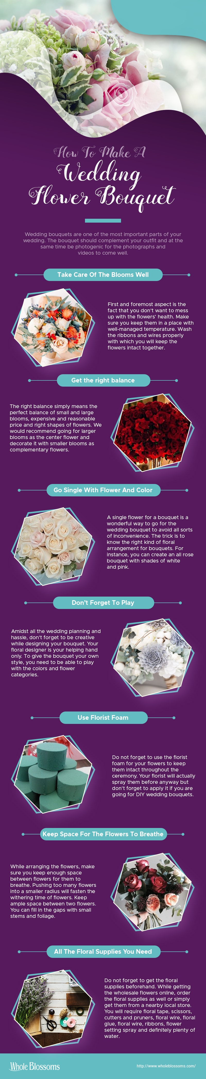 How to make a Wedding Flower Bouquet