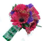 Dark Pink Posy Gerbera Bridal Bouquet