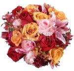 Pretty Rose Tradition Wedding Flowers Package