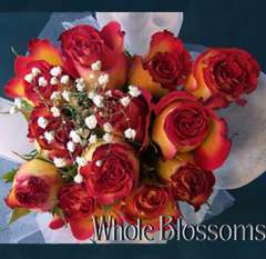 Bi-Color Red Yellow Rose Centerpiece