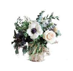 Anemone And Rose Arrangement