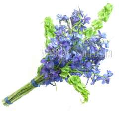 Blue Hand-Tied Delphinium Bridal Bouquet