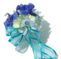 Blue Hydrangea Corsage With Pin