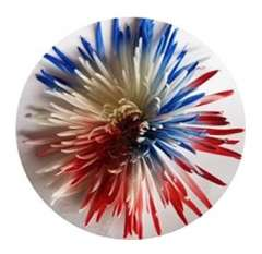 Blue-Red Patriotic White Mums