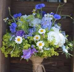 Bridal Bouquet Blue Flowers