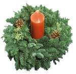 Evergreen Candle Rings