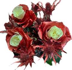 Copper Rose Holiday Flowers Collection