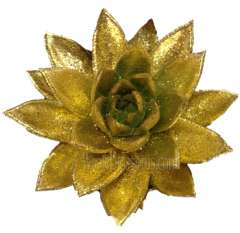 Gold Succulent Painted Glitter
