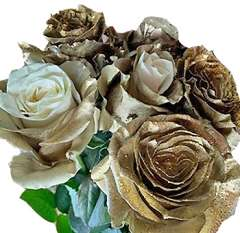 Golden Rose Holiday Flowers