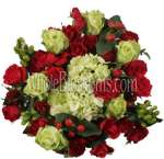Green White Red Rose Centerpieces