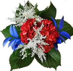 Hydrangea Memorial Day Flower Arrangement