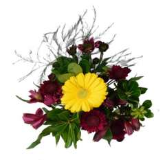 Magic Burgundy Flower Centerpieces