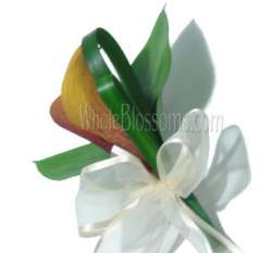 Mango Orange Mini Calla Pin Corsage Flower