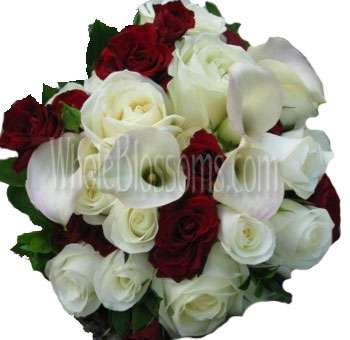 Red White Wedding Flowers Package
