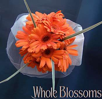 Orange Gerbera Daisy Wedding Centerpieces