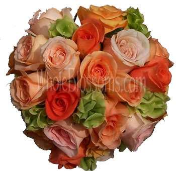 Orange Rose Celebration Wedding Flowers