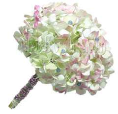 Pink Antique Nosegay Hydrangea Bridal Bouquet