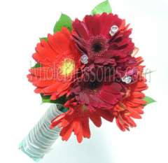 Red Nosegay Gerbera Bridesmaids Bouquets