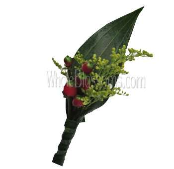 Red Berry Boutonniere Flower