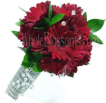 Red Gerbera Bridal Bouquet