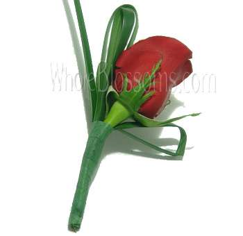 Red Rose Boutonniere Flower