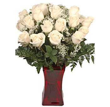 Off White Rose Valentine's Day Flowers